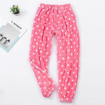Pantalon pyjama doux d'hiver de flanelle de points de femmes