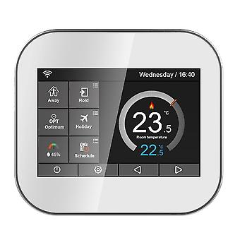 Wifi Color Touch Screen Thermostat For Electrlc Heating 16a, By Android Ios