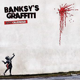 Banksys Graffiti 2021 Square Calendar by Browntrout