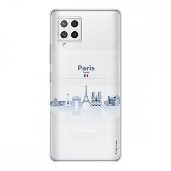 Scafo per Samsung Galaxy A42 5g In Silicone Flessibile 1 Mm, Monumenti De Paris