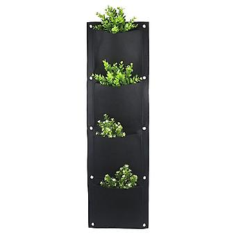 Wall Mounted Flower Pots Garden Vertical Hanging Planting Bags Pouch Green