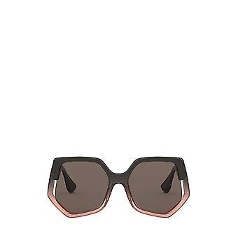 Miu Miu MU 07VS brown gradient transparent female sunglasses