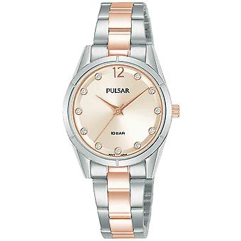 Casual press watch for Analog Quartz Woman with stainless steel bracelet PH8505X1