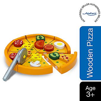 Beluga Classics Wooden Pizza with Toppings Toy Set for kids