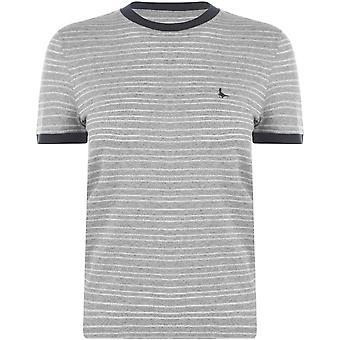 Jack Wills Penny Metallic Stripe  Ringer T Shirt
