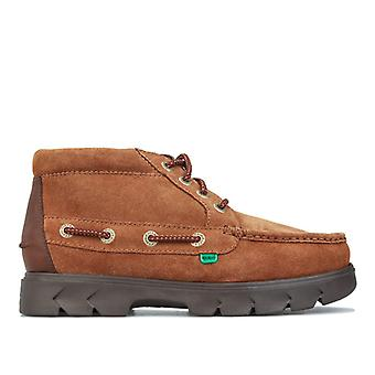 Men's Kickers Lennon Leather Boots in Brown