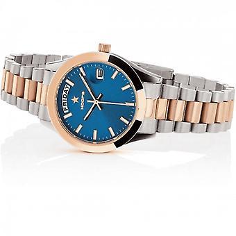 Hoops Luxury Steel Watch 2620lsrg04 Silver Rose Gold Blue