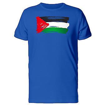 Maling av Palestina flagg Tee menn-bilde av Shutterstock