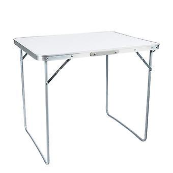Mesa de camping plegable - 80x60 cm - blanco