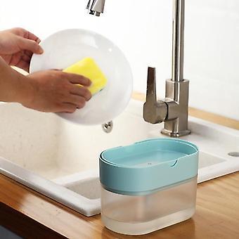 Boîte éponge 2-en-1 avec distributeur de savon