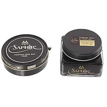 Saphir Medaille D'Or Pate De Luxe Haute Brillance Cire Vernis 100 ml + Crème Vernis Set