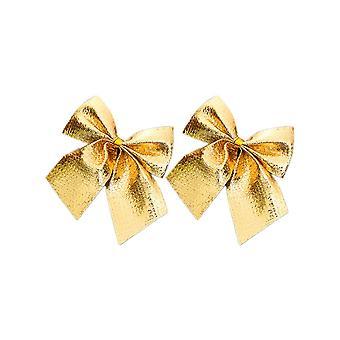12PCS Jul Båge för jul dekor Guld