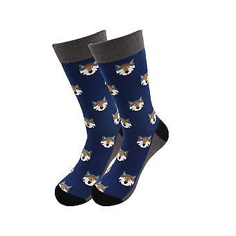 """Больные носки - """"Волчья голова"""" Экзотические животные Повседневные носки платье"""