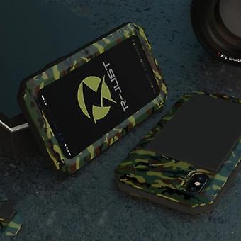 Material certificado® iPhone 8 Plus 360 ° Caixa de Tanque de Caixa do Corpo Completo + Protetor de Tela - Camo de capa à prova de choque