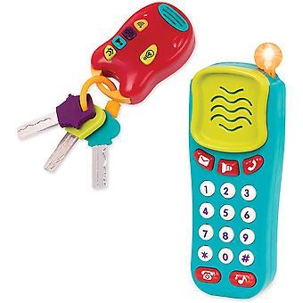 FengChun BT2629Z  Spielzeug Schlssel und Handy mit Lichtern und Tnen  Schlsselbund und