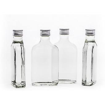 HanFei 20 leere Glasflaschen 200ml Tasche mit Schraubverschluss zum selbst Abfüllen 0,2 Liter