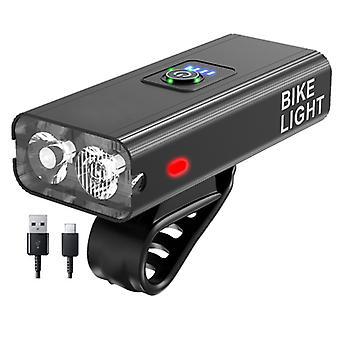 Vancl USB-Lade-Smart Outdoor-Fahrlicht, wasserdichte Fahrradsicherheit Frontleuchte