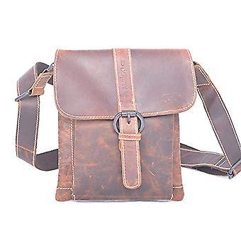 Arrigo 5852B, Unisex Adult Shoulder Bag, Brown (Brown (Cognac Cognac)), 18.5x22x3 cm (B x H x T)