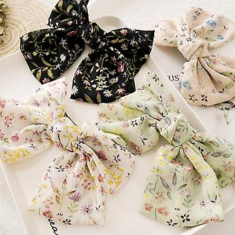 Chiffon bow barrettes suitable for ladies