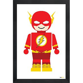 JUNIQE Print - Flash Toy - Nursery & Art for Kids Poster in Yellow & Red