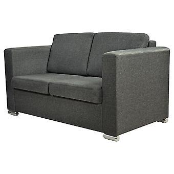 vidaXL sofá de 2 plazas tejido gris oscuro