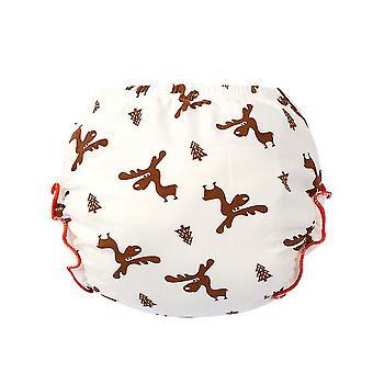 2Pcs elk 100cm for 14-16kg cotton panties, newborn baby fashion washable diaper pants, baby training pants az20675