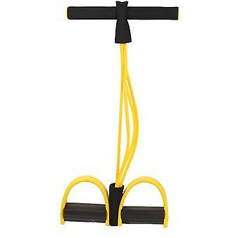 黄色の多機能フィットネスヨガ弾性プルロープバンドaz3639