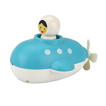 12.5X9x2cm as shown submarine bathing toy spiral spring funny creative bath water spray water bathroom bathing tool for kid (rom color) dt3620