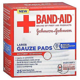 Aveeno Band-Aid Gauze Pads Large, 25 Each