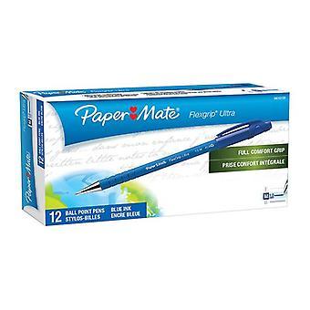 Papermate Flex Grip Rt Bp Blue Box Of 12