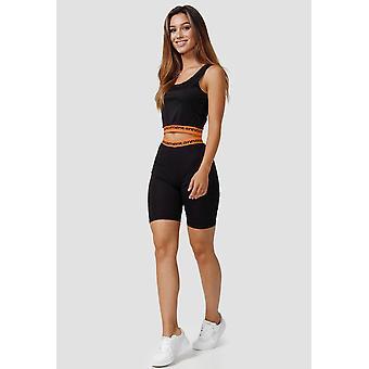 Womens Stretch Tracksuit Yoga Fitness Two Piece Tank Top Capri Leggings Suit Set
