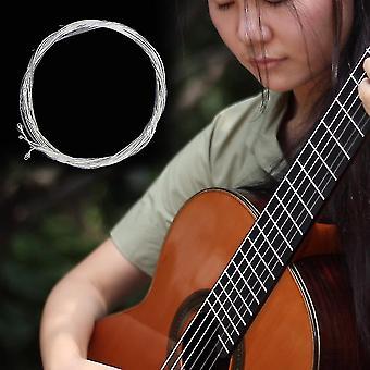 Klar und Silber Nylon Silber Saiten Set für klassische klassische Gitarre 1m 1-6 E B G D A E