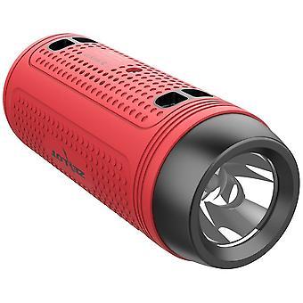 Alto-falante Bluetooth, alto-falante bluetooth portátil Zealot, com lanterna led, impermeável, fonte de alimentação móvel, função de mãos livres de bicicleta, viagem (Vermelho)