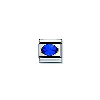 Nominatie italië composable link helderblauwe gefacetteerd steen 030601_007