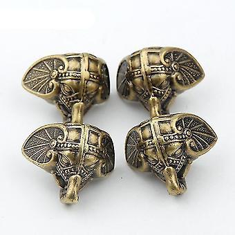 Antique Elephant Vintage Bronze Jewelry Chest Box For Wooden Case Decor