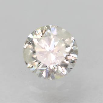 Certificeret 0,34 Karat F Color SI2 Runde Brilliant Natural Loose Diamond 4.38mm