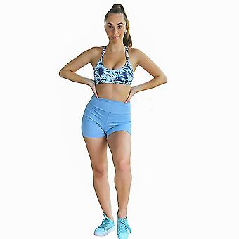 Kali Nahtlose High Rise Yoga Shorts - Pulverblau