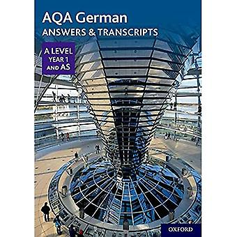 AQA A Level German: Key Stage 5: AQA A Level Year� 1 and AS German Answers & Transcripts (AQA A Level� German)