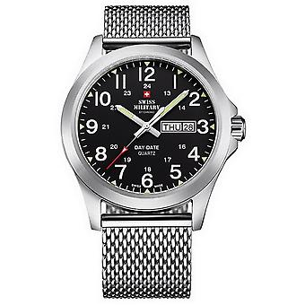 Reloj suizo Military By Chrono Silver Stainless Steel SMP36040.13 para hombre