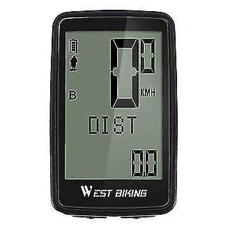 Bicycle computers west biking usb rechargeable bicycle computer wireless waterproof backlight cycling odometer 5