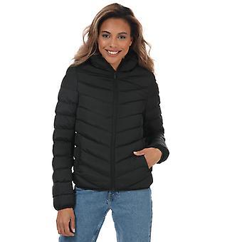 Chaqueta acolchada con capucha Brave Soul Grant de mujer en negro