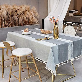 Splice Dustproof Tablecloth, Rectangular Tablecloth, Kitchen Table And Coffee Table Decoration Tablecloth, (140 * 140cm, Gray)