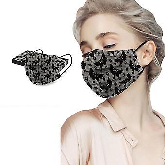 10個のユニセックスソリッドレース使い捨てマスク口顔防風顔面製品マスク