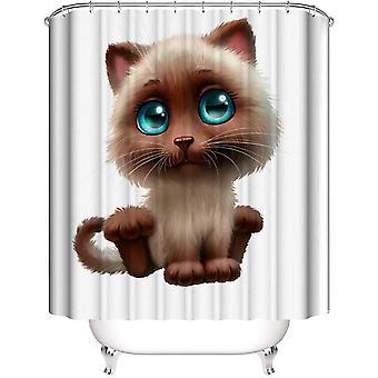 4pcs Bathroom Decor Set Bath Rug Cute Cat Pattern