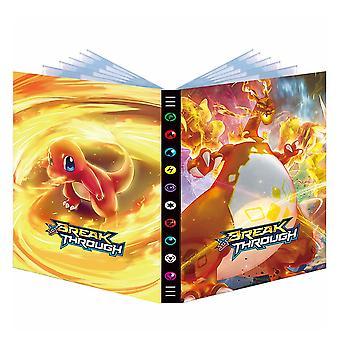 גדול 9 כיסים 432 כרטיסים פוקימון אלבום ספר כרטיס סוליטייר משחק Xy אש נושפת דרקון אשף אוסף כרטיס