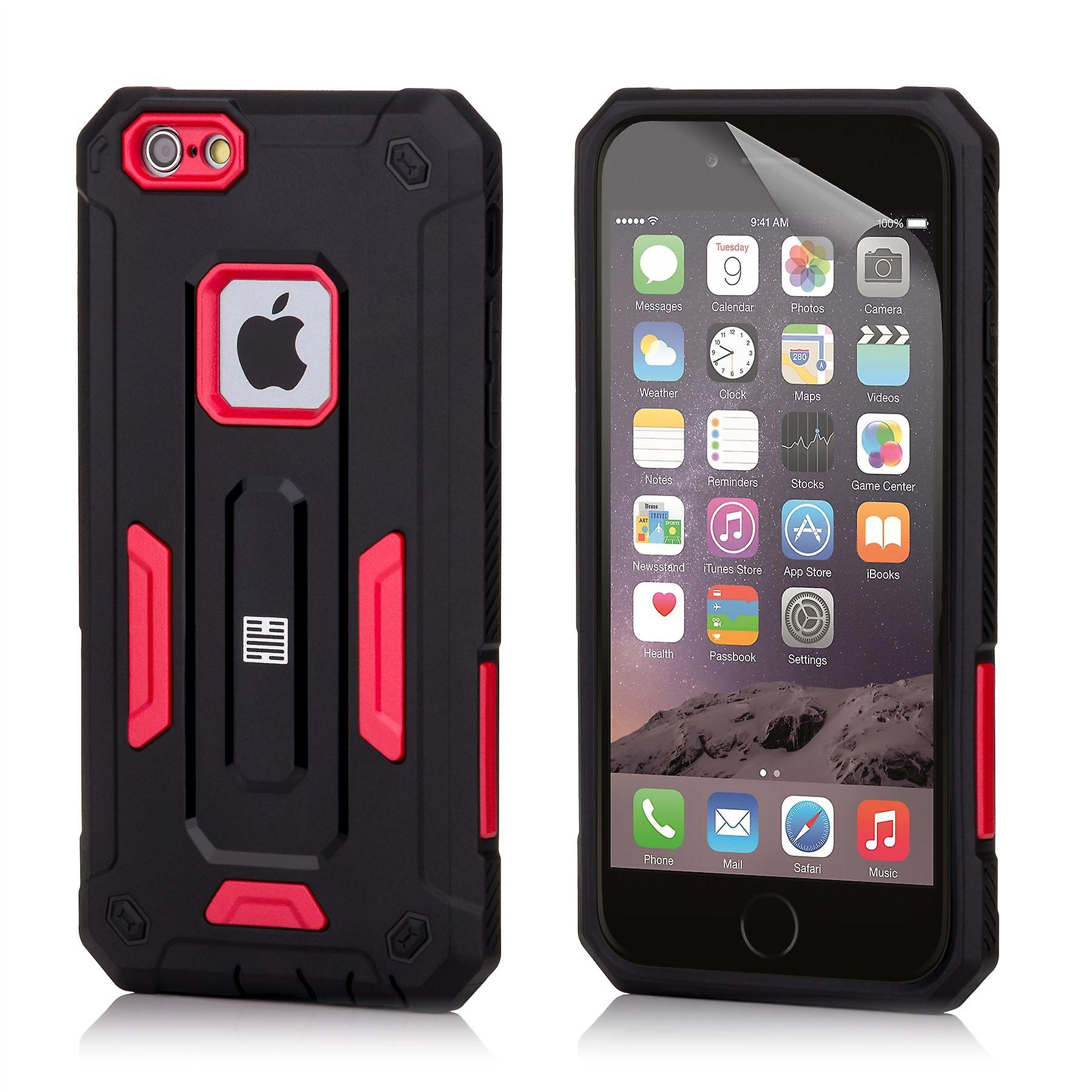 32nd Hard Defender case for Apple iPhone 6 6S - Red