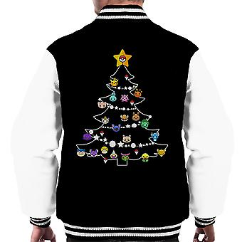 Pokemon Bulbs Christmas Tree Men's Varsity Jacket