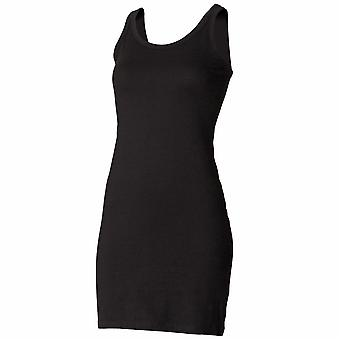 Skinni Fit Ladies/Womens Extra Long Stretch Tank Top / Vest