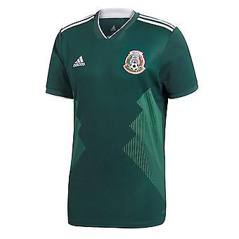 2018-2019 Mexico hjem Adidas fotball skjorte (barn)