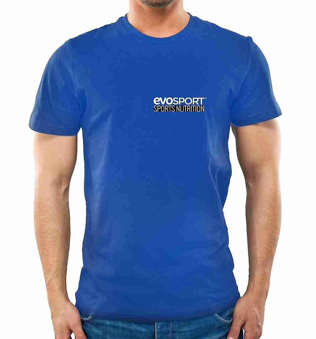 EvoSport Blue 100% Cotton T-Shirt - XX-Large - Shirts - Evolution Slimming